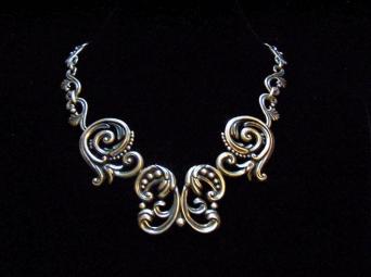 Margot de Taxco Mexican Silver Vintage Necklace 5204