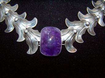 Vintage Mexican Silver Amethyst Fred Davis Design