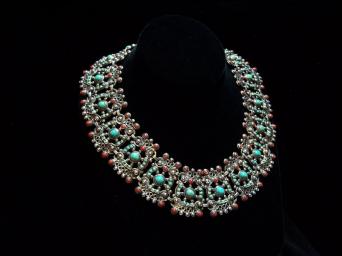 Early Mexico City Mexican Silver Pre-48 Necklace