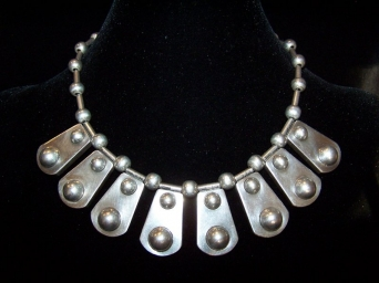 Rafael Dominguez Vintage Mexican Silver Necklace