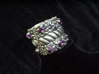 Rare Incredible Vintage Mexican Silver Ingrids Bracelet