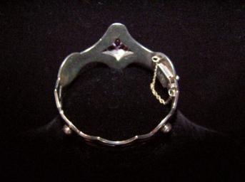 Vintage Mexican Taxco Silver Alexandrite Bracelet