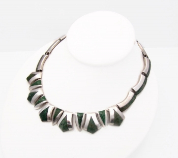 Ledesma Vintage Mexican Silver Gemstone Necklace
