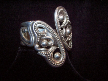 Deco Vintage Mexican Silver Clamper Pre-1948