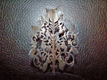 Vintage Mexican Silver Pierced Work Ornament by Janna