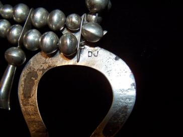 Dennis James Sterling Squash Native American Necklace