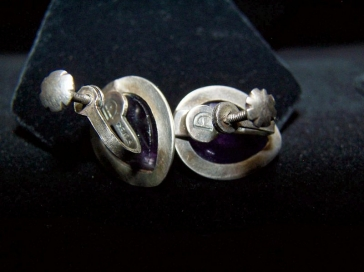Fred Davis Ring & Earrings Vintage Mexican Silver Set