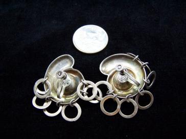 Margot de Taxco Vintage Mexican Silver Rare Earrings