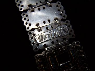 Matl Salas Mexican Silver Amethyst Turquoise Bracelet