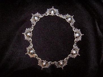 Vintage Geronimo Fuentes Mexican Silver Taxco Necklace