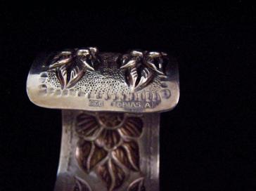 Tobias Vintage Mexican Silver Repousse Cuff Bracelet