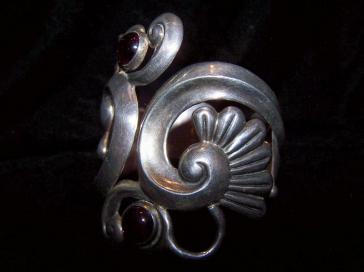 Gerardo Lopez Vintage Mexican Silver Clamper Bracelet