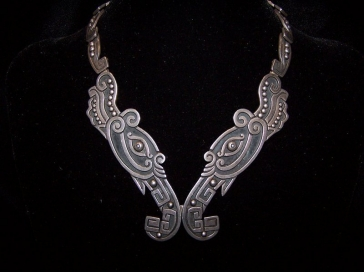 Vintage Los Castillo Mexican Silver Necklace Set