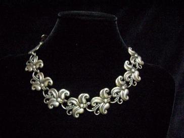 Margot de Taxco Vintage Mexican Silver Wide Necklace