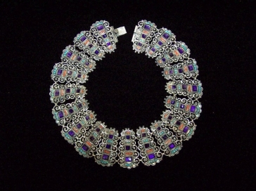 Matl Salas Mexican Silver Jeweled Sterling Necklace