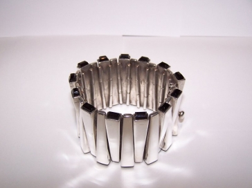 Antonio Pineda Mexican Silver Matchstick Bracelet