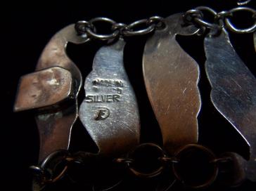 Fred Davis Amethyst Swirl Mexican Silver Bracelet