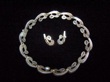 Antonio Pineda Mexican Silver Moonstone Necklace