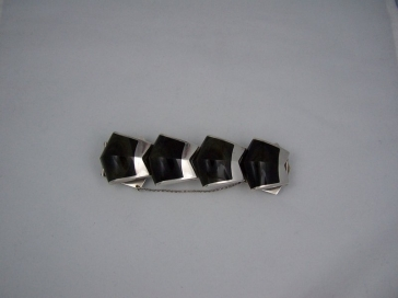 Ledesma Obsidian Big Vintage Mexican Silver Bracelet