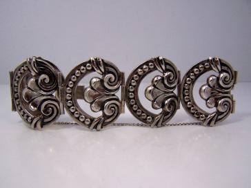 Margot de Taxco 5568 Bracelet Set Mexican Silver