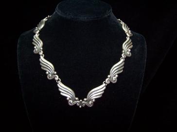 Margot de Taxco Wings Set #5120 Vintage Mexican Silver