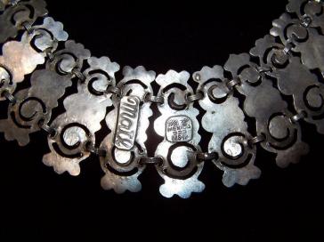 Taxco Mexican Silver Matl Salas Necklace Matilde Poulat