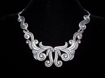 Old Los Castillo Vintage Mexican Silver Necklace
