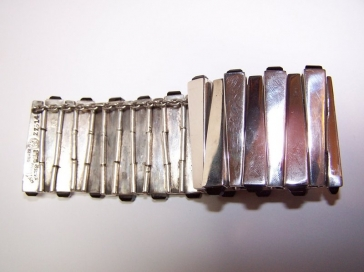 Antonio Pineda Mexican Silver Matchstick Bracelet