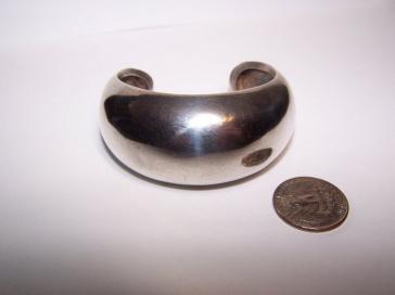Antonio Pineda Vintage Mexican Silver Wide Cuff