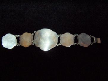 Old Mexico City Matl Style Vintage Silver Bracelet Rose