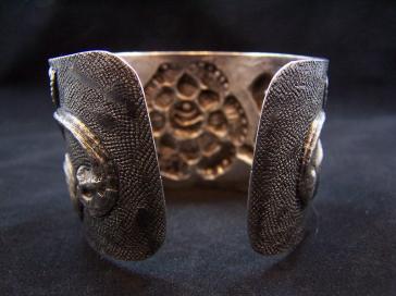 Maciel Vintage Mexican Silver Floral Bracelet / Cuff