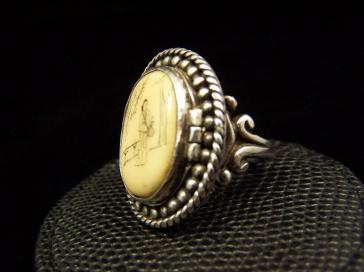 Antonio Pineda Vintage Mexican Silver Locket Ring