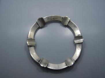 Antonio Pineda Concave Vintage Mexican Silver Necklace
