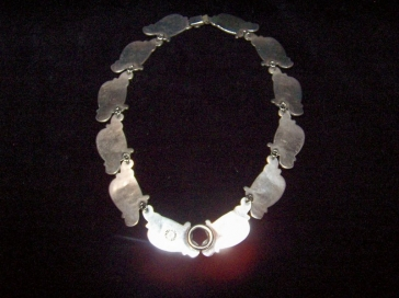 V. Mendez Vintage Mexican Silver Necklace and Earrings