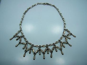 Reveri Castillo Vintage Mexican Silver Necklace