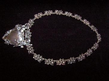 Vintage Margot de Taxco Mexican Silver Cherub Necklace