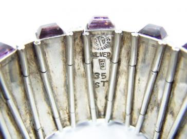 RTA Matchstick Vintage Mexican Silver Bracelet