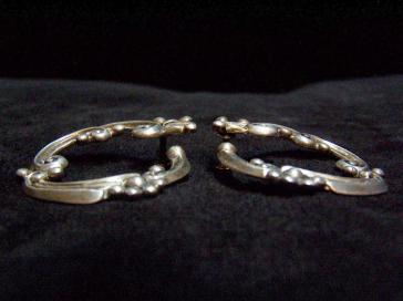 Margot de Taxco Vintage Mexican Silver Hoop Earrings