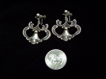 Margot de Taxco Vintage Mexican Silver Earrings