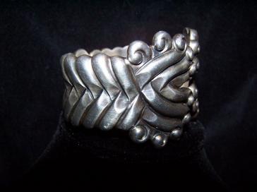 Vintage Los Castillo Mexican Silver #161 Bracelet