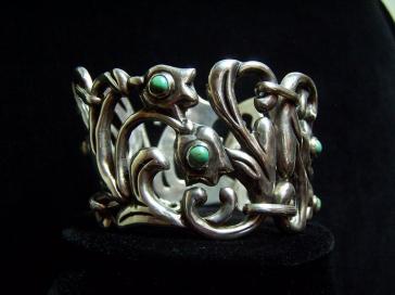 Victoria Monumental Vintage Mexican Silver Bracelet