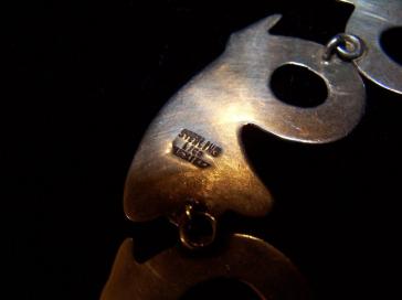 Vintage Mexican Silver Lico Necklace Pre-Eagle Set