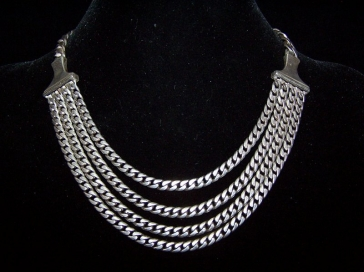 Pre 48 Vintage Mexican Silver Necklace by Saul
