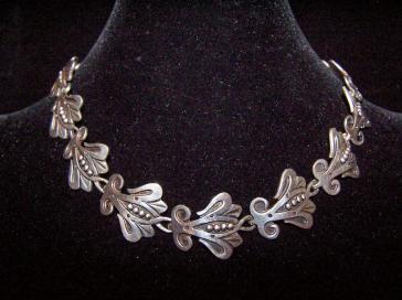R.Rivera Vintage Mexican Silver Necklace Pre-1948