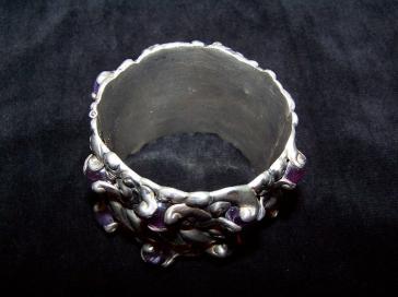 Rare Incredible Vintage Mexican Silver Ingrids Bracelet