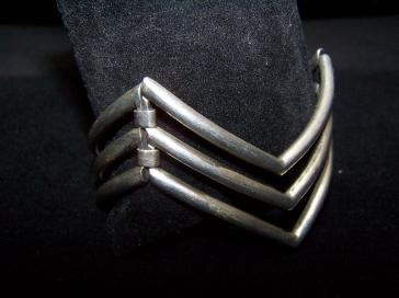Salvador Teran Vintage Mexican Silver Bracelet