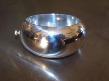 Vintage Mexican Silver Bernice Goodspeed Big Bracelet