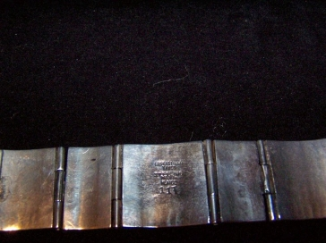 Vintage Mexican Silver Los Castillo Bracelet Book Piece