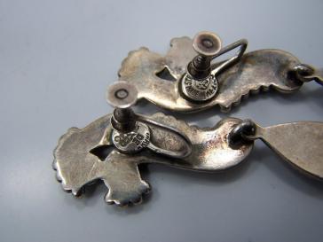 Margot de Taxco Vintage Mexican Silver Earrings 5140
