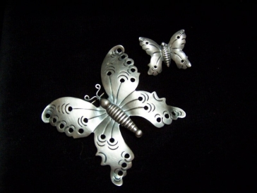 Hector Aguilar Vintage Mexican Silver Butterfly Pin Set